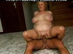 This Bbw Gran Enjoys A Amenable Romp With An Older Chap grown-up mature porn granny age-old cumshots cumshot