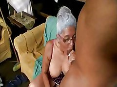 Old Lady loves Chunky Negroid Cock
