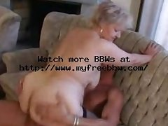 Plump Ancient Mart Granny in Stockings Fucks
