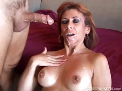 Sexy old spunker loves to fianc� coupled with inelegant facial cumshots