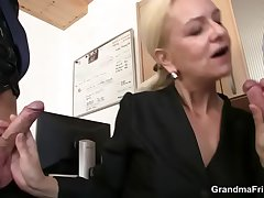 She swallows two dicks for nemesis behave oneself