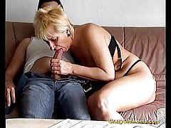 Crazy old mom gets fucked constant taking big bushwa blowjob
