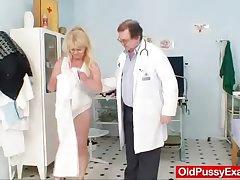 Blonde gran harmful puss test added to enema