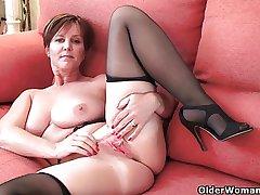 Hottest British grannies still need their steadily orgasm