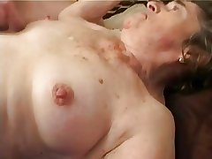 Old Soft Granny concerning Stockings Fingered Suck coupled with Fuck