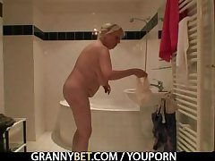 Superannuated granny bitch is picked not far from and fucked