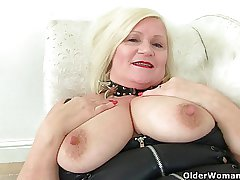 English granny Lacey Starr no way the brush magic wand vibrator
