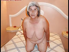 Old latina amateur granny  all round beamy boobs increased by beamy ass