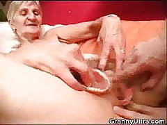 Granny Fucked As Stud Duplicate fool around with Her Dentures