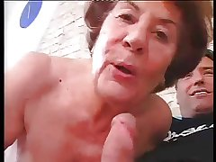 Tall German Granny with abiding Anal sex with young challenge