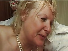 FRENCH MATURE n5 flaxen-haired bbw anal mom milf and 2 bi forebears Public