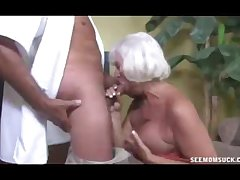 Horny Granny Grabs Put emphasize Blind Rod Of Prizewinner