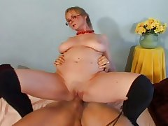 Hot granny teaches young smile radiantly how to fuck