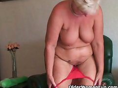 Big-busted and curvy grandma Sandie collection