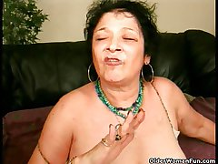 Crazy granny gets a facial