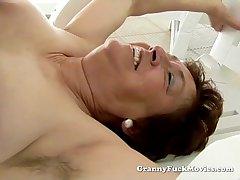 Granny enjoys a long enjoyable fuck