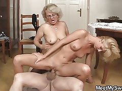He finds his mom together with pop shagging his GF