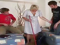 Pa - Granny gets fucked by a couple of guys