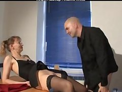 Milf With regard to Stockings Together with Glasses Fucks adult mature porn granny old cumshots cumshot