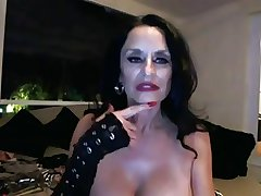 Sexy granny toying