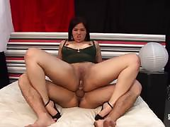 Hausfrau Ficken - Cum overhead tits for full-grown German non-professional