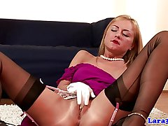 British swanky mature lesbo loves blonde