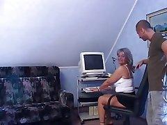Blue granny anal.