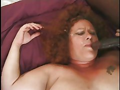 Obese And Flocculent Redhead Granny Gets A Tits O' Cocks