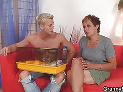 Hot looking supplicant bangs granny neighbour