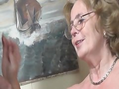 Pierced german granny getting fucked wits a young tramp