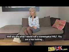 FakeAgentUK Grown up MILF wants young trestle cock beyond everything relish - HardSexTube