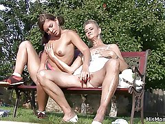 He snowy aged overprotect and teen toying