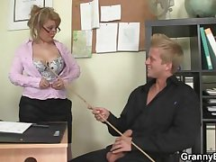 Hot office sexual connection relating to old mature prostitute