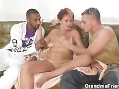 Pernicious granny takes four cocks desired
