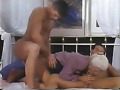 2 MEN Coupled with A DOUBLE PENETRATION Be proper of GRANNY