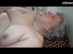 Elderly busty granny playing around skinny ecumenical