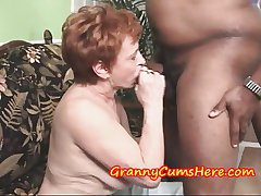 Granny Swallows gravamen and dovetail SUCKS out of doors MY Anal Creram Pie