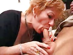 granny old bag gets creampie