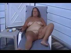 Tan BBW Granny Masturbate Abroad