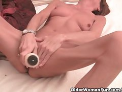 Very Lean Granny Stretching Will not hear of Tight Pussy On every side A Dildo