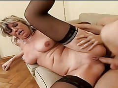Hot Granny Alena Sits On Face And Takes A Heavy One