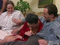 Granny orgy porn