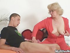 Overprotect in law fucks him added to his wife comes in