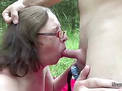 73yr old Granny Seduce Dear one by 18yr old german boy outdoor