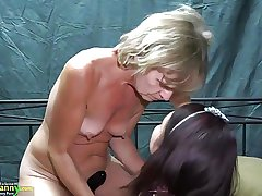 OldNanny One lesbians girl is enjoying with trifle
