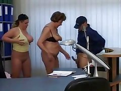Granny and Milf Secretaries fuck get under one's delivery guy