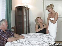 Hot threesome everywhere her BF's parents