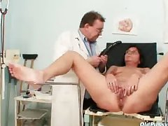 Senior pierced pussy unsubtle bizarre pussy exam