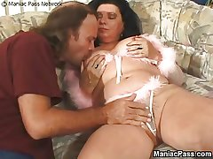 Fat granny fucked fast coupled with hard