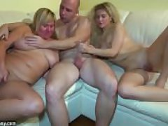 Young comprehensive fucking at hand threesome more granny